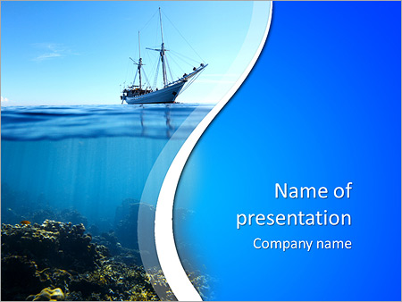 Sail boat in tropical calm sea and coral reef underwater powerpoint sail boat in tropical calm sea and coral reef underwater powerpoint template toneelgroepblik Choice Image