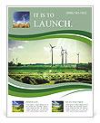 Wind Generators, Ecology Flyer Template