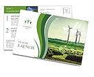 Wind Generators, Ecology Postcard Template