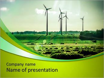 Wind Generators, Ecology PowerPoint Template