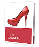 Close up of a red high heels on white background with clipping path Presentation Folder