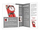 Countdown. Time bomb with alarm clock detonator. Dynamit. 3d Brochure Templates