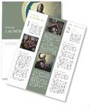 Medieval knight against hill full of crosses. Newsletter Template