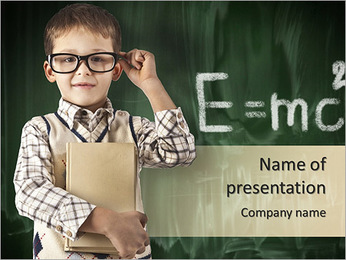 Smart Young Boy PowerPoint Template