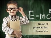 Smart Young Boy PowerPoint Templates
