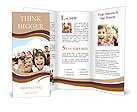 Crowd of children, sitting together happily Brochure Templates