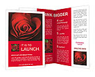 Valentine Red Heart Rose Brochure Templates