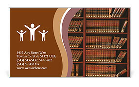 Law book library Business Card Templates