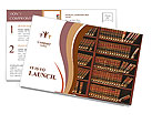 Law book library Postcard Templates