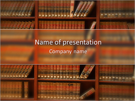 law book library powerpoint template & backgrounds id 0000007567, Presentation templates