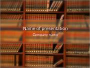 Law Buch-Bibliothek PowerPoint-Vorlagen