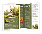 Yoga woman Brochure Templates