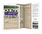 Five little boys put their arms around each other while waiting for their baseball game to start Brochure Templates