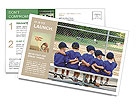 Five little boys put their arms around each other while waiting for their baseball game to start Postcard Template
