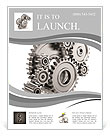 Steel gear wheels - tools and settings icon Flyer Templates