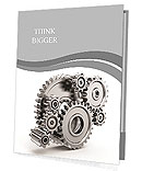 Steel gear wheels - tools and settings icon Presentation Folder