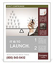Hand drawing a contrast of light bulbs Poster Template
