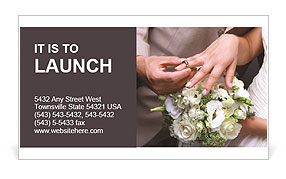He Put the Wedding Ring on Her Business Card Template