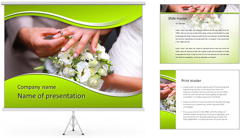 He Put the Wedding Ring on Her PowerPoint Template