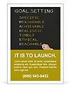 Business hand writing concept of smarter goal or objective setting - specific - measurable - achiev Ad Templates