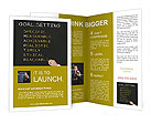 Business hand writing concept of smarter goal or objective setting - specific - measurable - achiev Brochure Templates