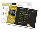 Business hand writing concept of smarter goal or objective setting - specific - measurable - achiev Postcard Template
