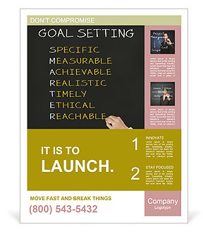 Business Hand Writing Concept Of Smarter Goal Or Objective Setting