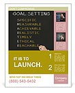 Business hand writing concept of smarter goal or objective setting - specific - measurable - achiev Poster Template