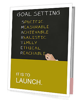 Business hand writing concept of smarter goal or objective setting - specific - measurable - achiev Presentation Folder