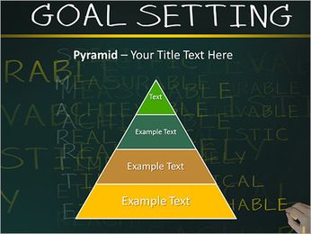Business hand writing concept of smarter goal or objective setting - specific - measurable - achiev PowerPoint Templates - Slide 10