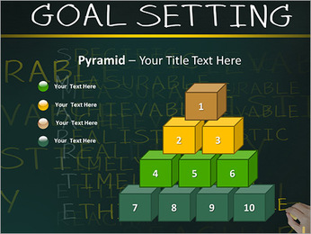 Business hand writing concept of smarter goal or objective setting - specific - measurable - achiev PowerPoint Templates - Slide 11