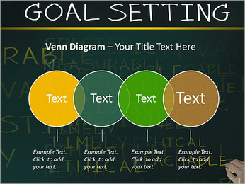 Business hand writing concept of smarter goal or objective setting - specific - measurable - achiev PowerPoint Templates - Slide 12