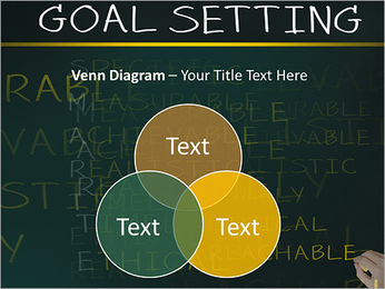 Business hand writing concept of smarter goal or objective setting - specific - measurable - achiev PowerPoint Template - Slide 13