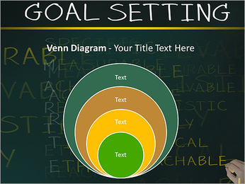 Business hand writing concept of smarter goal or objective setting - specific - measurable - achiev PowerPoint Templates - Slide 14