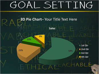 Business hand writing concept of smarter goal or objective setting - specific - measurable - achiev PowerPoint Template - Slide 15
