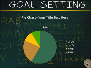 Business hand writing concept of smarter goal or objective setting - specific - measurable - achiev PowerPoint Template - Slide 16