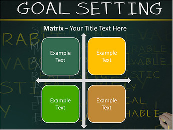Business hand writing concept of smarter goal or objective setting - specific - measurable - achiev PowerPoint Templates - Slide 17
