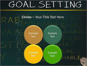 Business hand writing concept of smarter goal or objective setting - specific - measurable - achiev PowerPoint Template - Slide 18