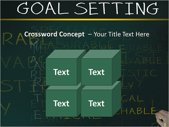 Business hand writing concept of smarter goal or objective setting - specific - measurable - achiev PowerPoint Templates - Slide 19