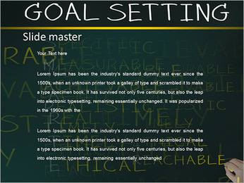 Business hand writing concept of smarter goal or objective setting - specific - measurable - achiev PowerPoint Templates - Slide 2