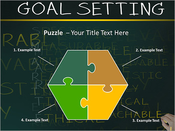 Business hand writing concept of smarter goal or objective setting - specific - measurable - achiev PowerPoint Templates - Slide 20