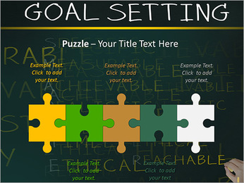 Business hand writing concept of smarter goal or objective setting - specific - measurable - achiev PowerPoint Templates - Slide 21