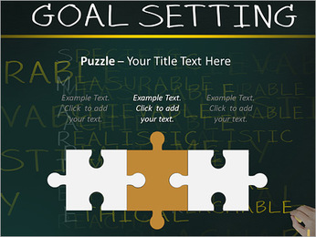 Business hand writing concept of smarter goal or objective setting - specific - measurable - achiev PowerPoint Templates - Slide 22