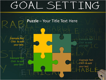 Business hand writing concept of smarter goal or objective setting - specific - measurable - achiev PowerPoint Templates - Slide 23