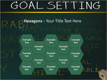 Business hand writing concept of smarter goal or objective setting - specific - measurable - achiev PowerPoint Template - Slide 24
