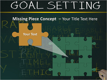 Business hand writing concept of smarter goal or objective setting - specific - measurable - achiev PowerPoint Templates - Slide 25