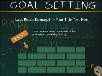 Business hand writing concept of smarter goal or objective setting - specific - measurable - achiev PowerPoint Templates - Slide 26