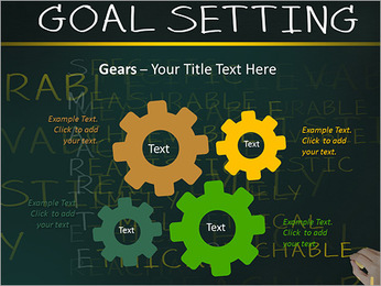Business hand writing concept of smarter goal or objective setting - specific - measurable - achiev PowerPoint Templates - Slide 27