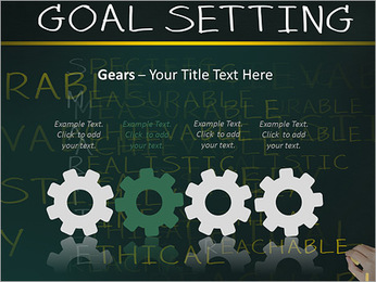 Business hand writing concept of smarter goal or objective setting - specific - measurable - achiev PowerPoint Templates - Slide 28
