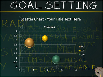 Business hand writing concept of smarter goal or objective setting - specific - measurable - achiev PowerPoint Template - Slide 29